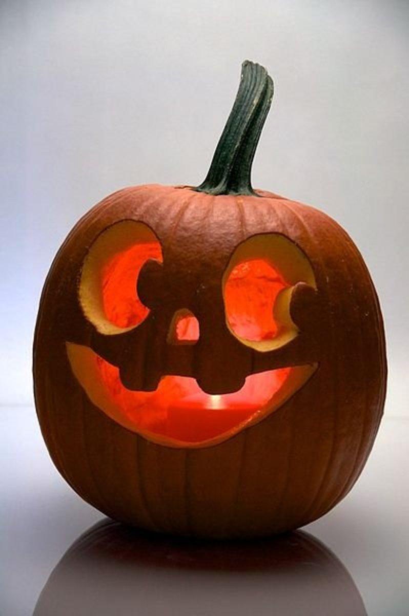 Halloween pumpkin smiley face