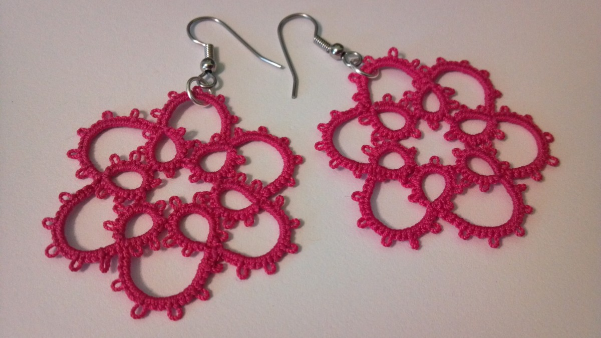 Quick and easy free tatted earring patterns hubpages for Jewelry books free download
