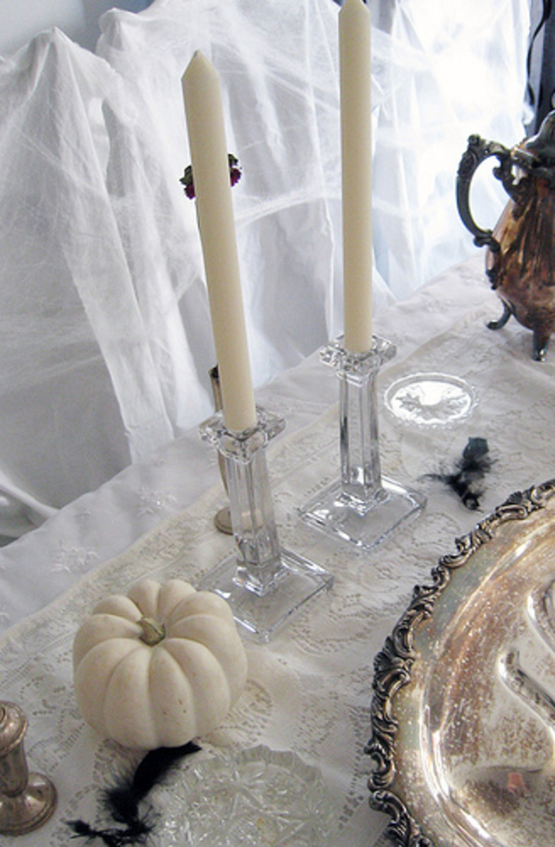 Go all-white for a ghostly gathering!