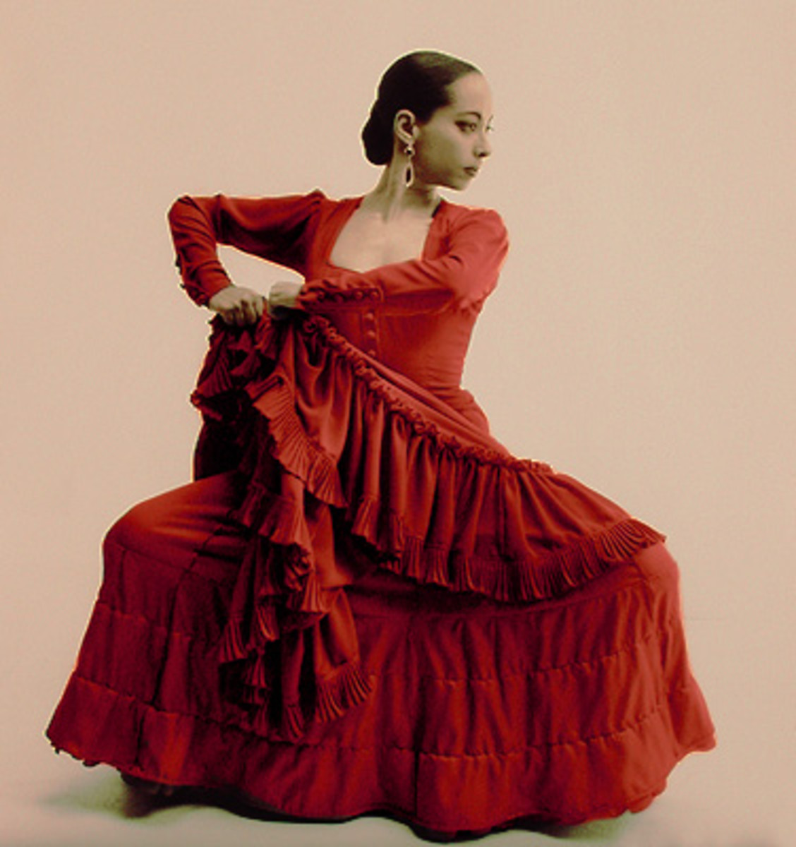 Traditional Flamenco dancer.