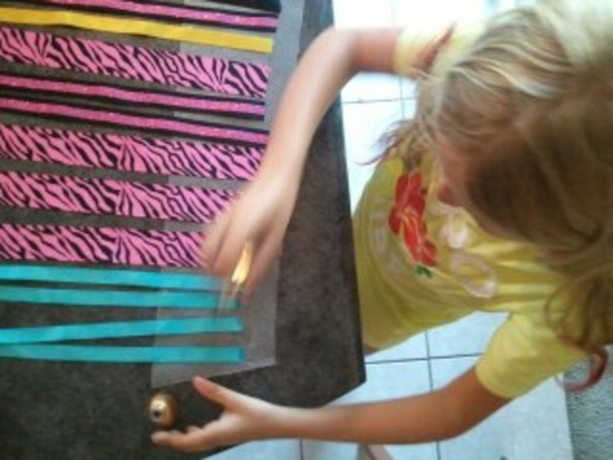 Sealing the ends of the ribbon with nail polish keeps the ribbon windsock from unraveling.