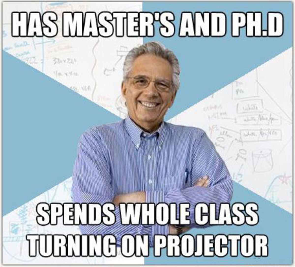 I can identify with this one. Make sure you are familiar with the equipment before class begins.