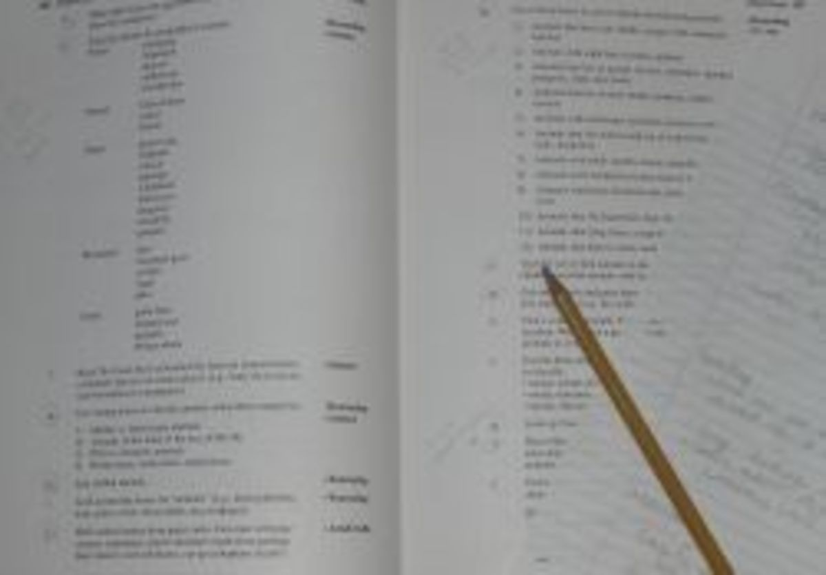 Use a pencil and paper (or your computer) to plan your activities.