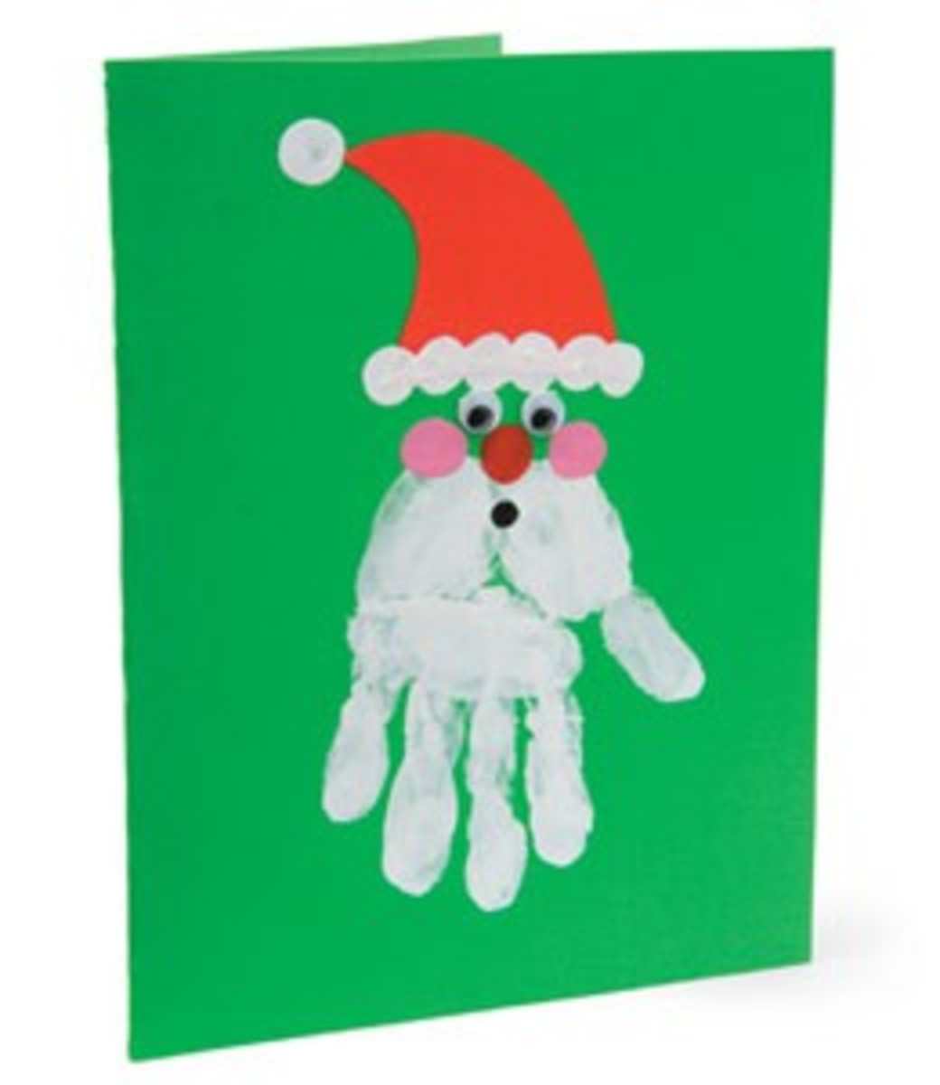 Simple DIY Christmas Card for Kids