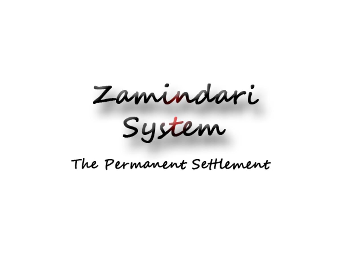 Zamindari System
