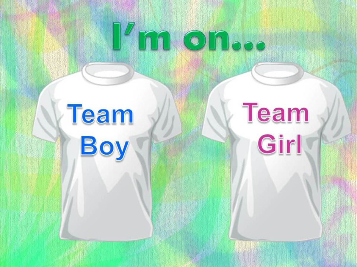 Is it a boy or girl? What team are you on? Idea for baby gender reveal parties.