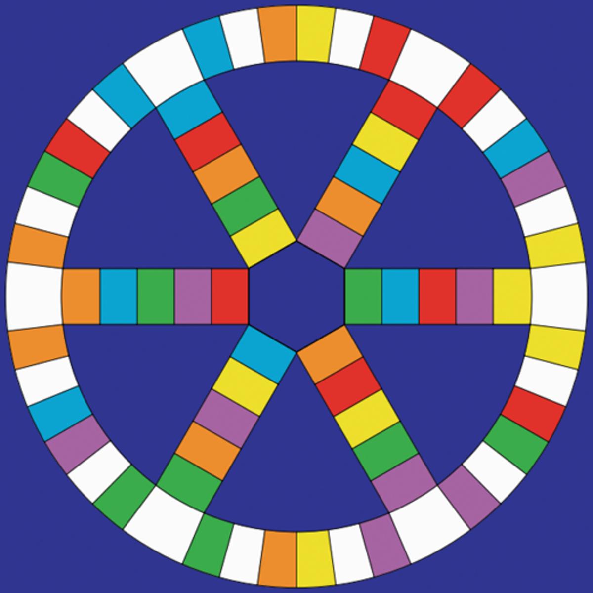 Blank Trivial Pursuit board.