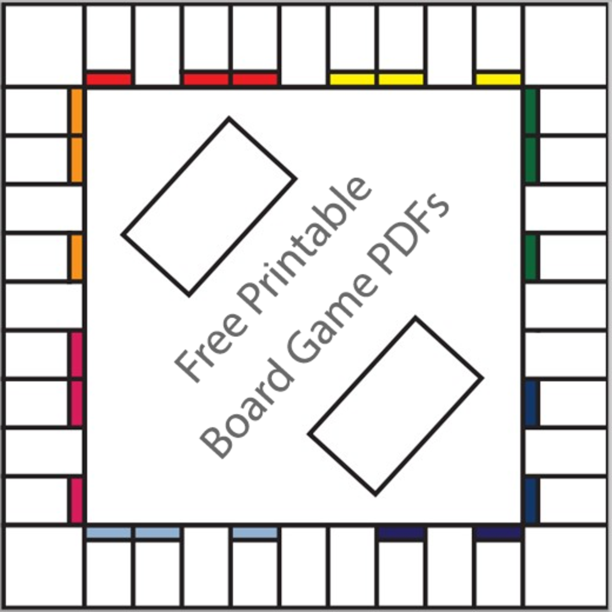 16 free printable board game templates hubpages for Blank scrabble board template