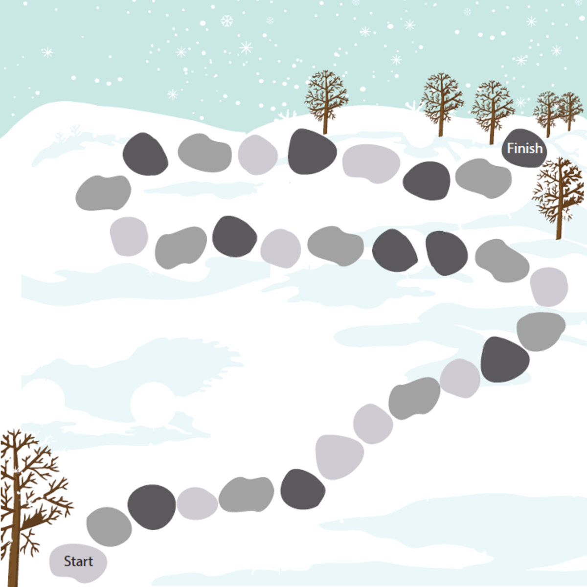Winter-themed Candyland