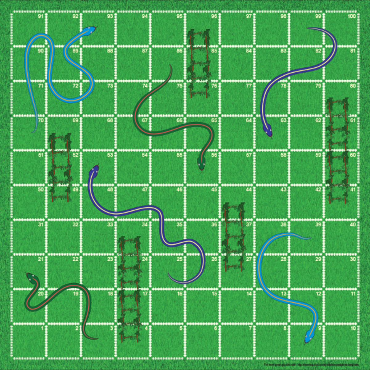 Blank Snakes and Ladders template.