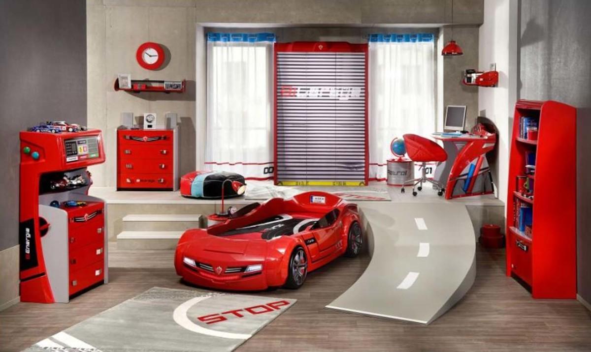 Kids race car room