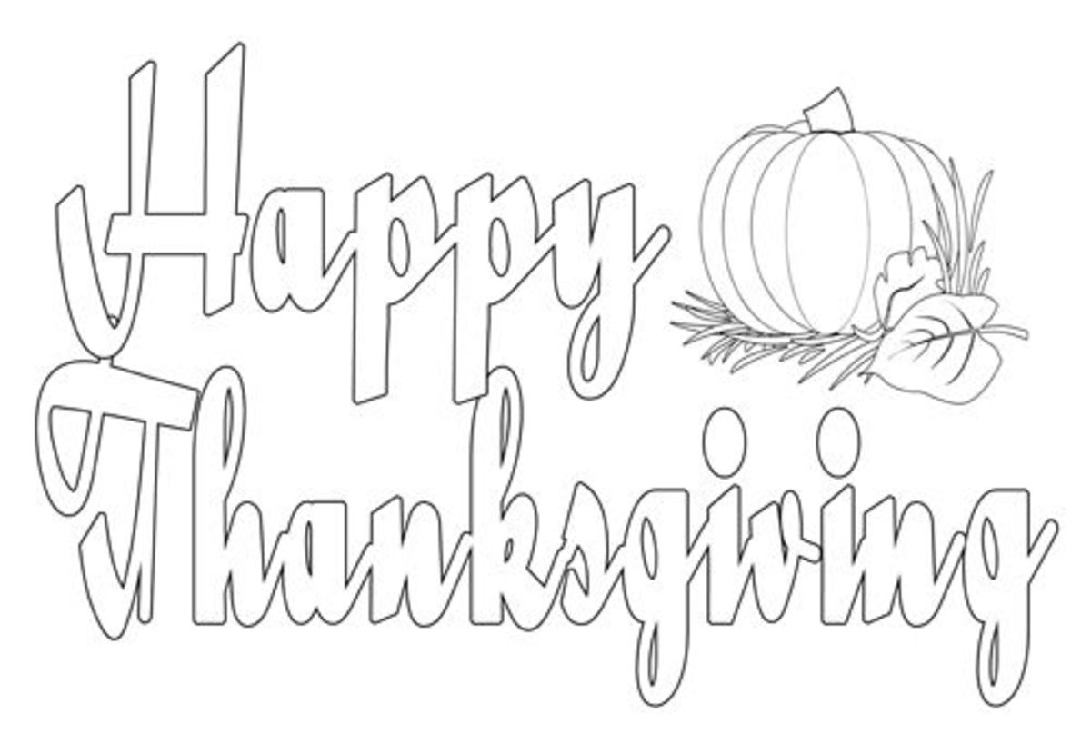 happy thanksgiving printable coloring pages - printable thanksgiving coloring pages by michelle collins