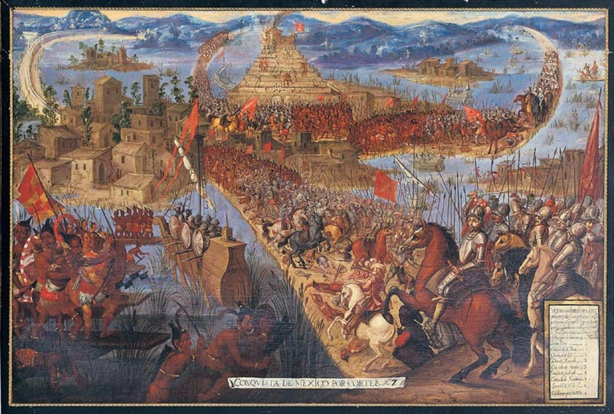 The Spanish Conquest of Tenochtitlan.