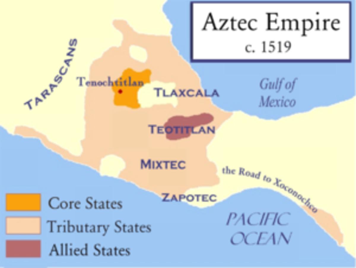 The vast Aztec Empire.