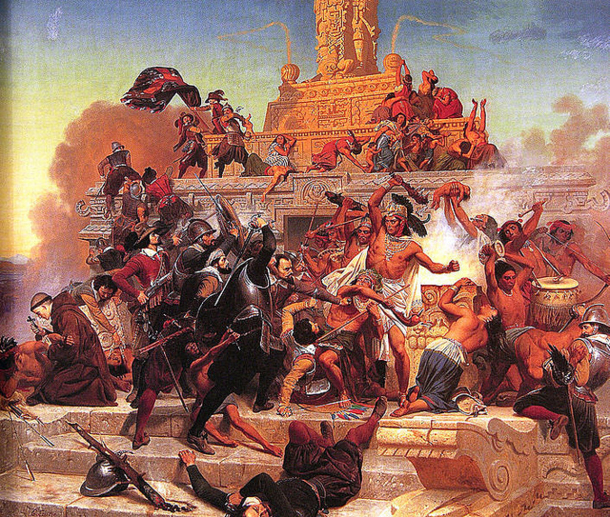 An Encounter Between Warring Cultures: The Spanish and the Aztecs