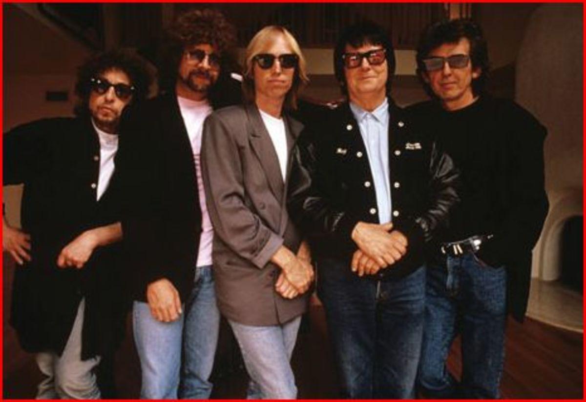 Famous Musicians Without Sunglasses: Jeff Lynne, Roy Orbison, and Slash pic. no glasses!
