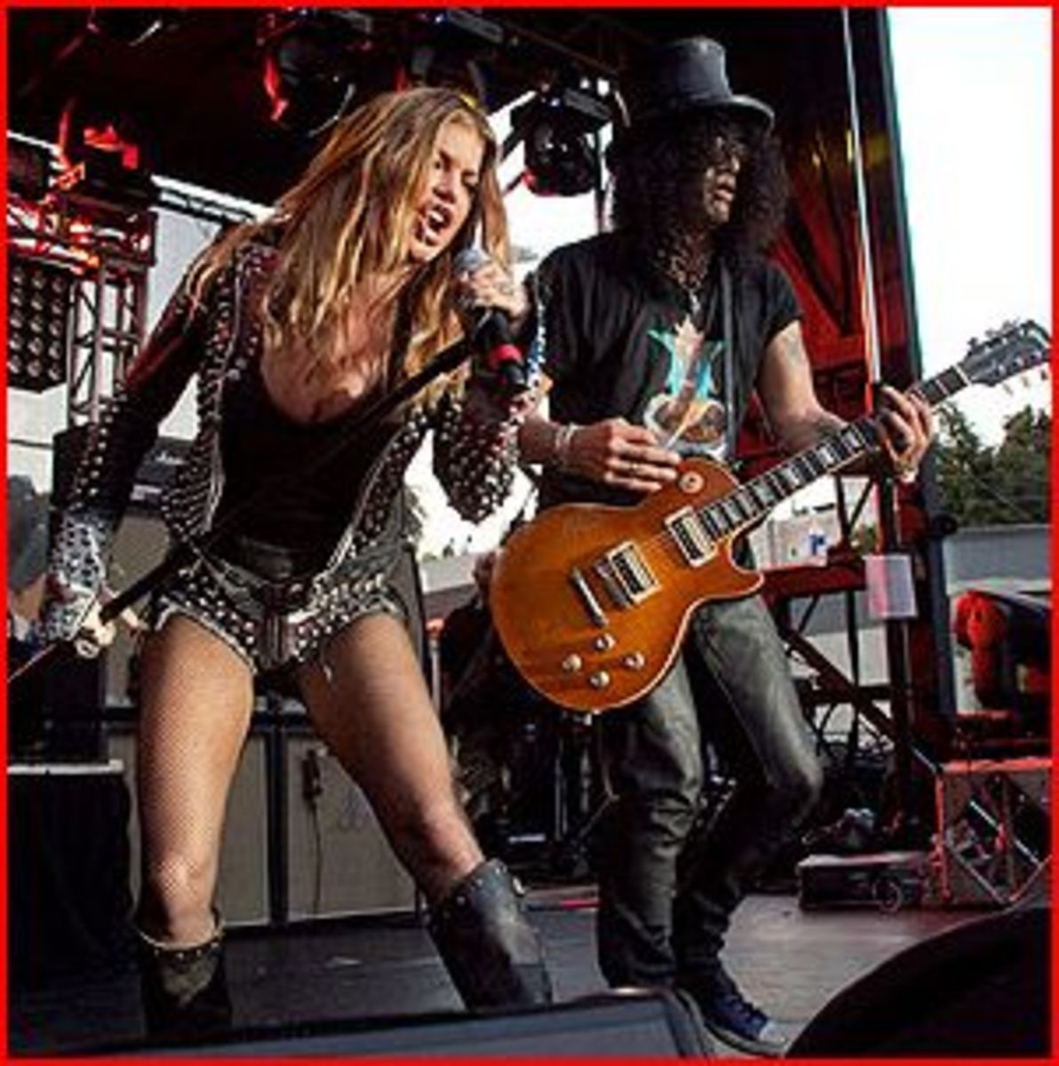 Slash, seen here with Fergie, has an image that hasn't changed since the 80's