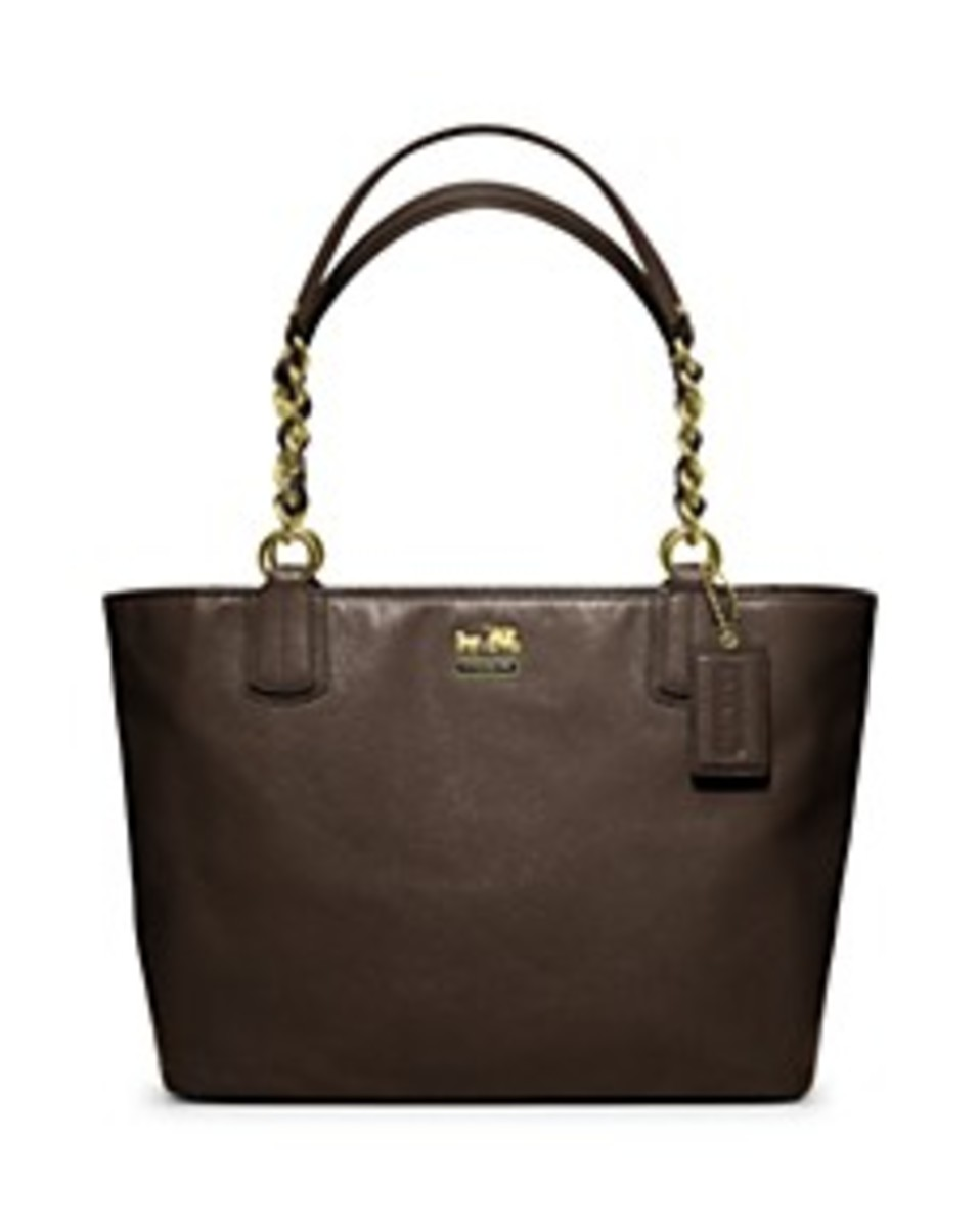 Coach Madison Leather Tote $298. Designer Purse Brands List.
