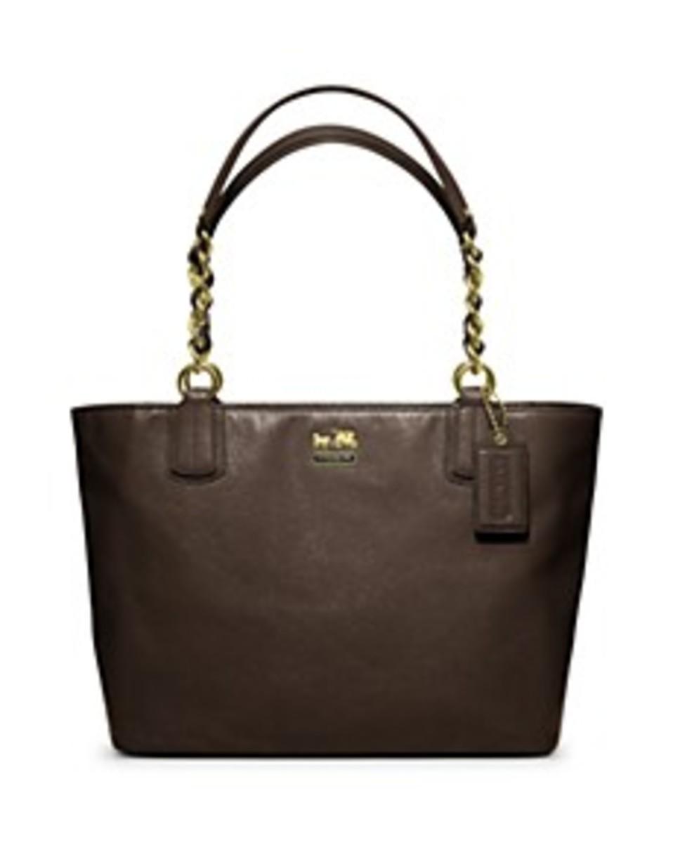 Coach Madison Leather Tote $298. Designer Purse Brands List.