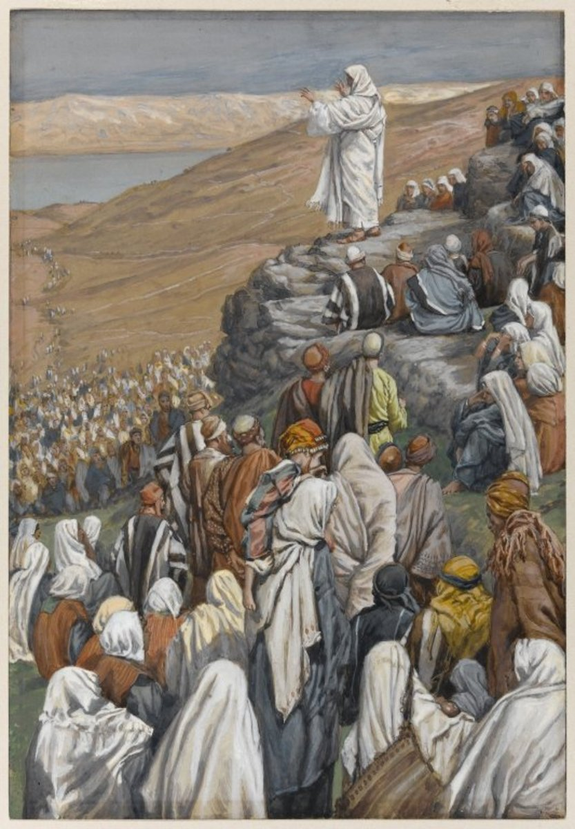 Painting of Jesus giving the Sermon on the Mount, by James Tissot, Brooklyn Museum, New York.