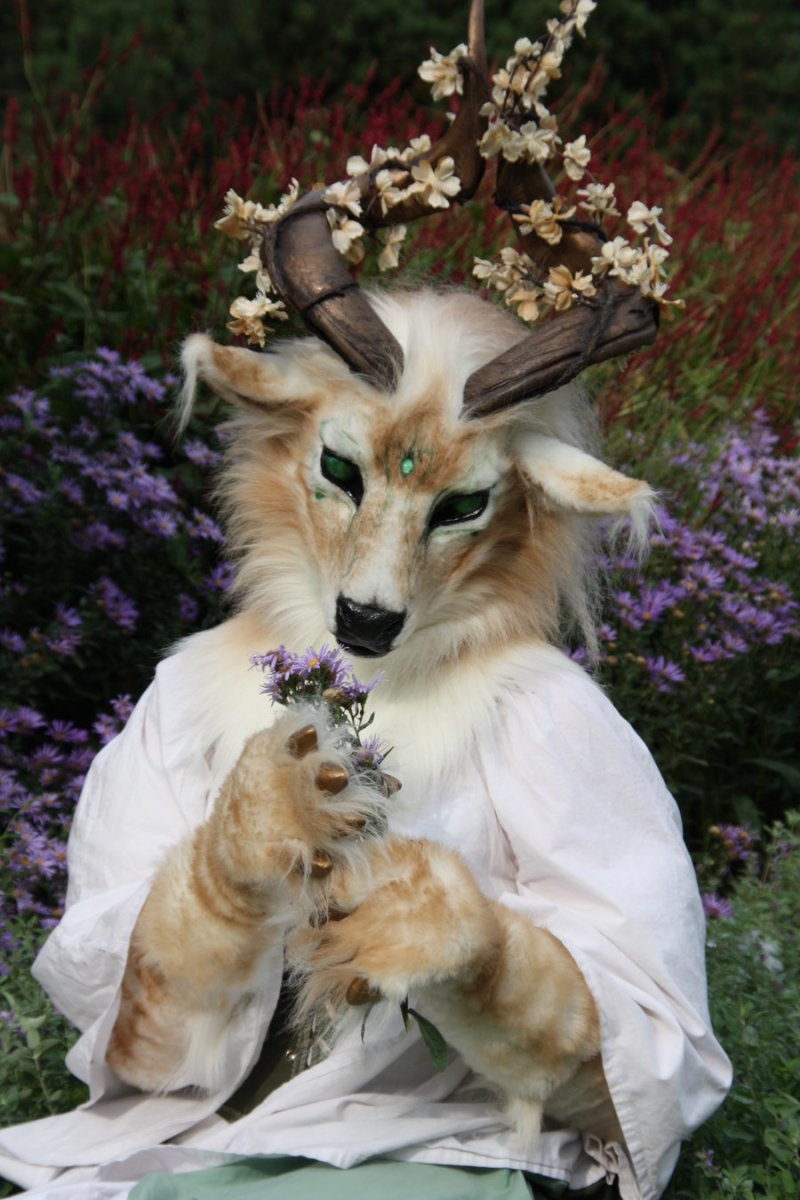 """Titled """"The Spirit of The Forest,"""" this costume speaks of the delicate beauty Nature has to offer."""