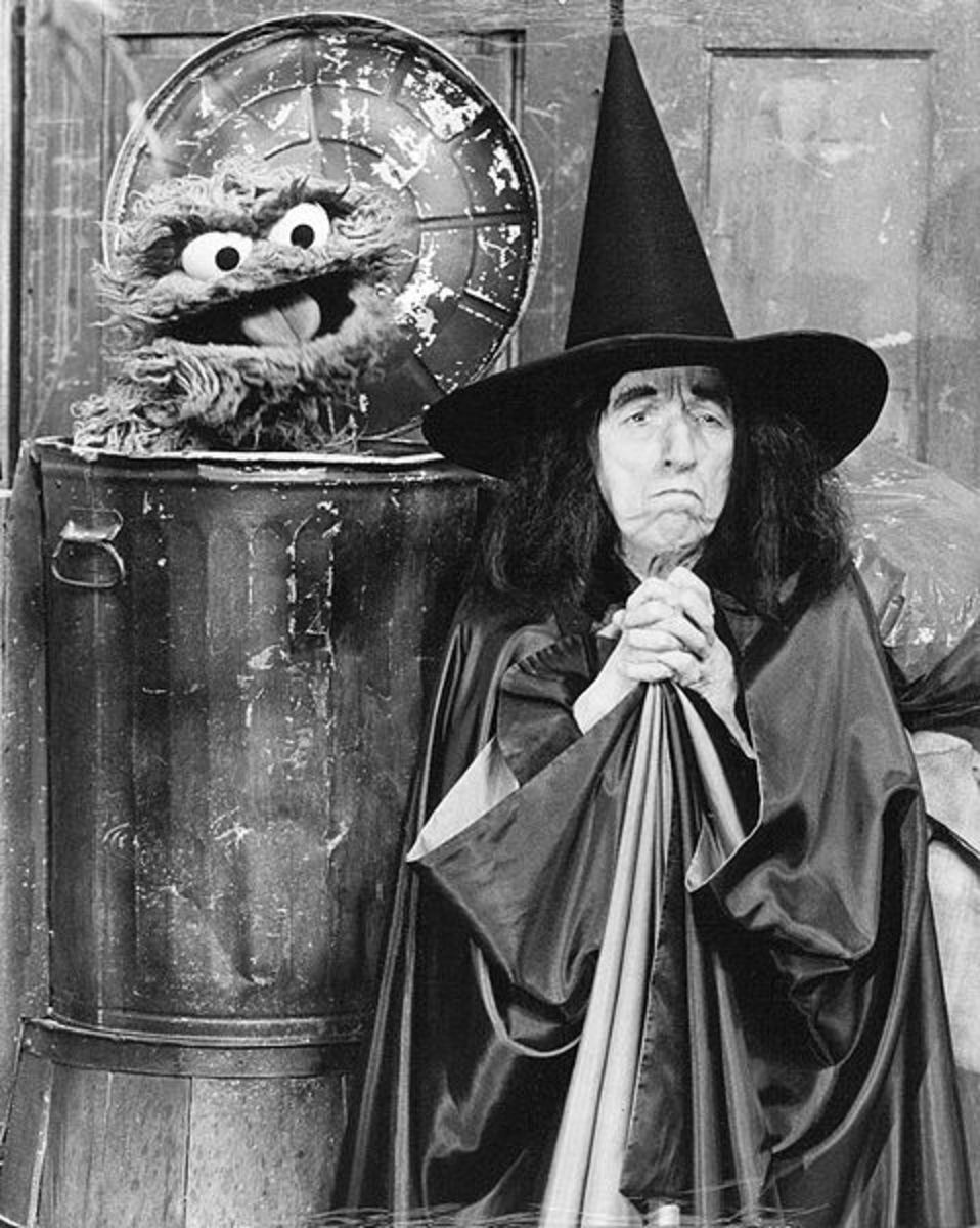 Margaret with Oscar the Grouch