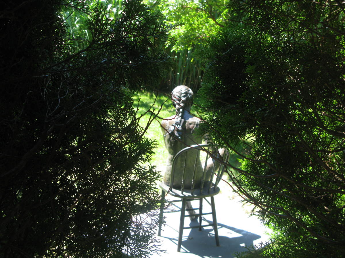 As you wander through the gardens you'll come across many hidden sculptures.
