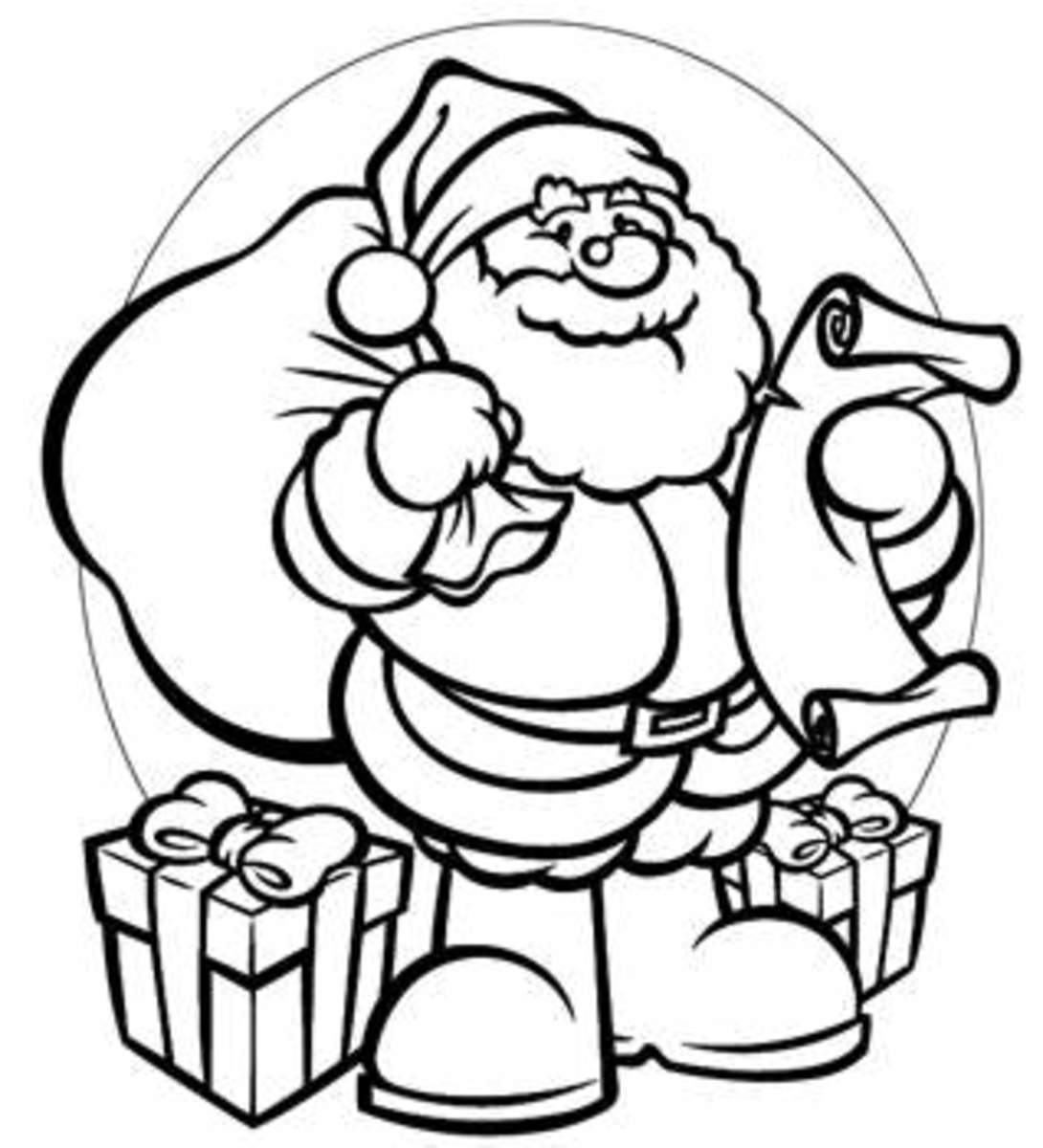 santa christmas coloring pages - photo#28