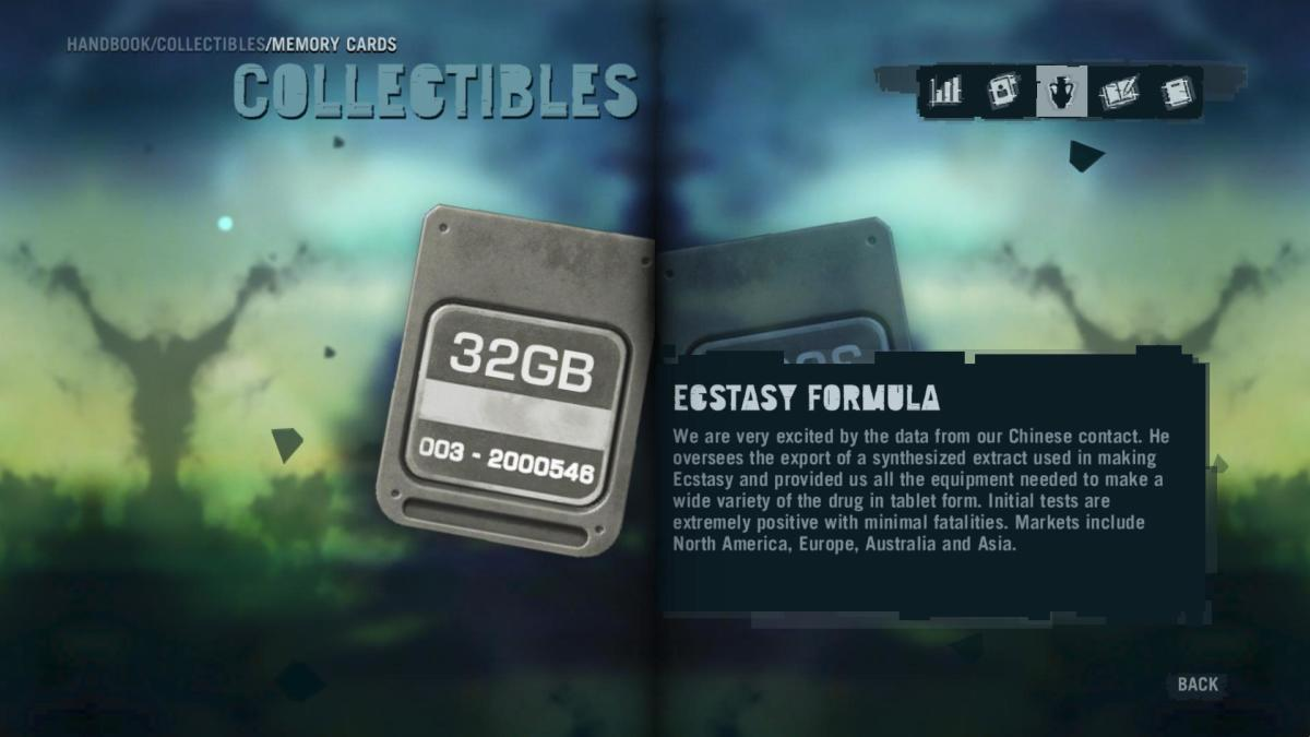 Far Cry 3 Collectibles - Memory to Spare achievement: Memory Card 5.