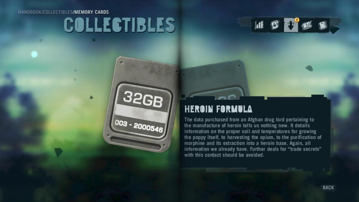 Far Cry 3 Collectibles - Memory to Spare achievement: Memory Card 10.