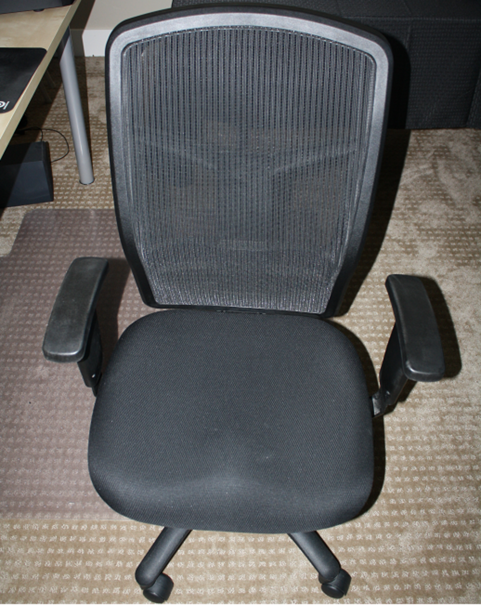 After Over A Year Of Use The Lorell Executive High Back Chair Still Looks  And Feels