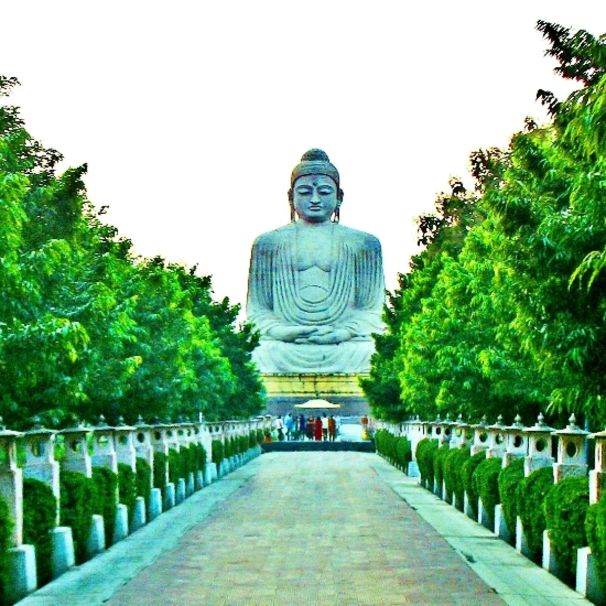 80 ft statue of Buddha in the place where he attained Bodhisatva