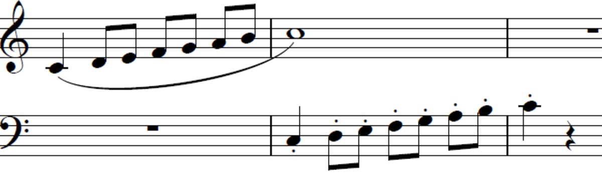 Play one hand legato, one hand staccato, and then swap