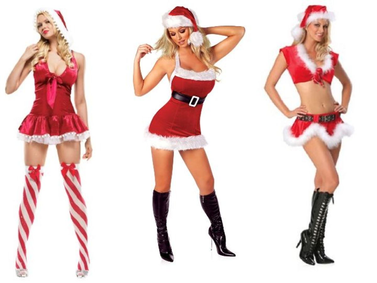 Sexy Ms  Clause Costumes Naughty Santa Claus Costume For Men