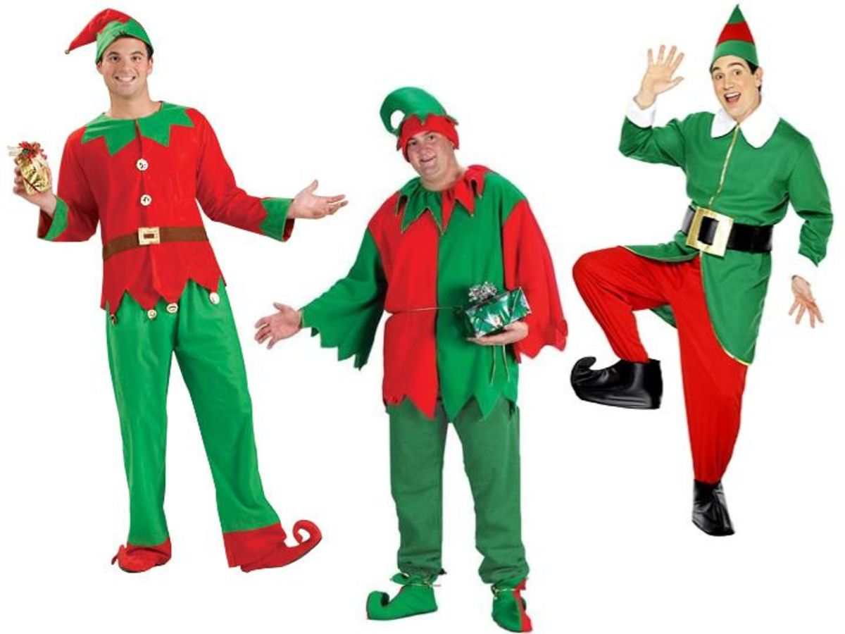 Adult Men Elf Costume