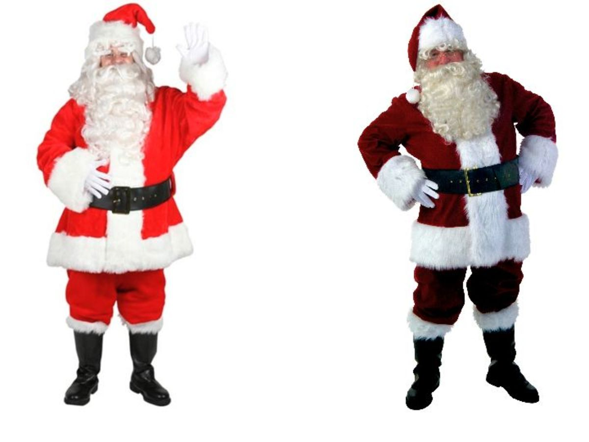 Men Santa Clause Costume