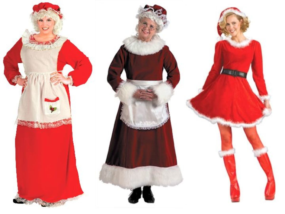 Women's Adult Mrs. Clause Costume