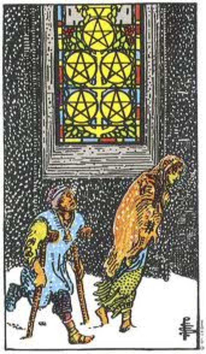 Rider-Waite 5 of Pentacles