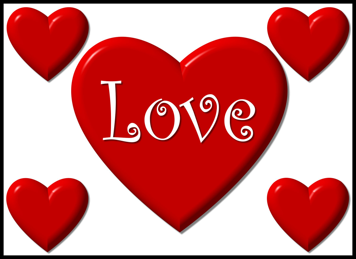 3 Love Poems - Romantic Hearts on Valentine's Day