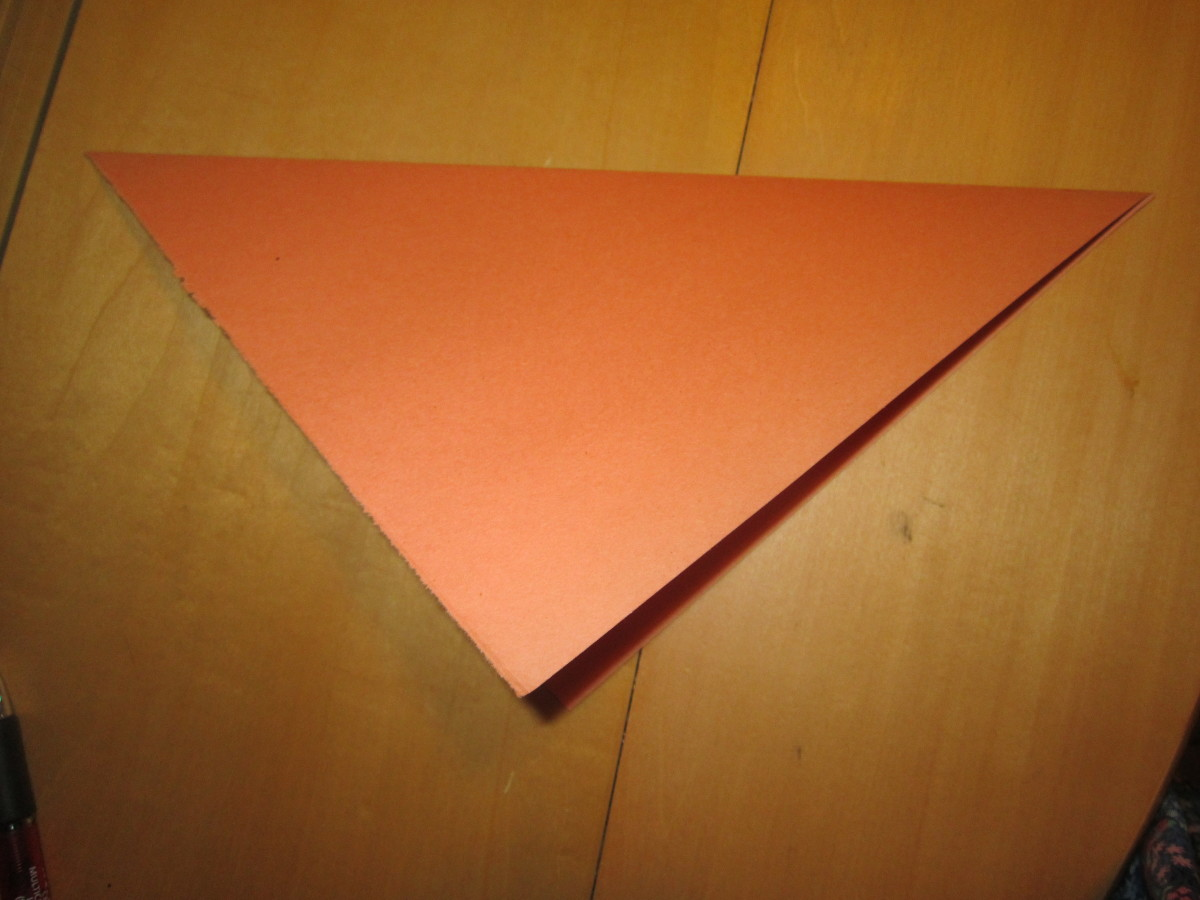 Fold sheet of paper in half.