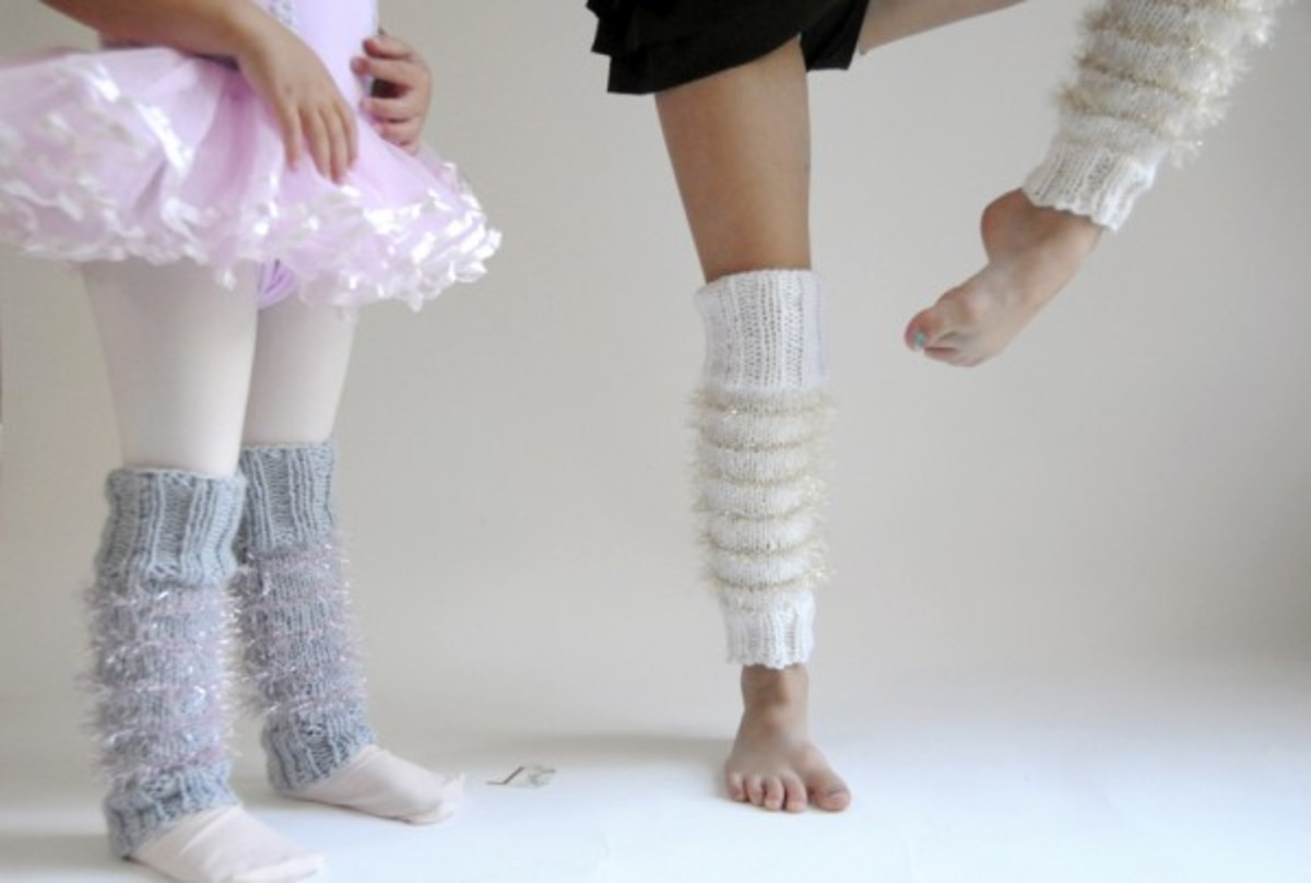Sparkly Stripe-y Leg Warmers