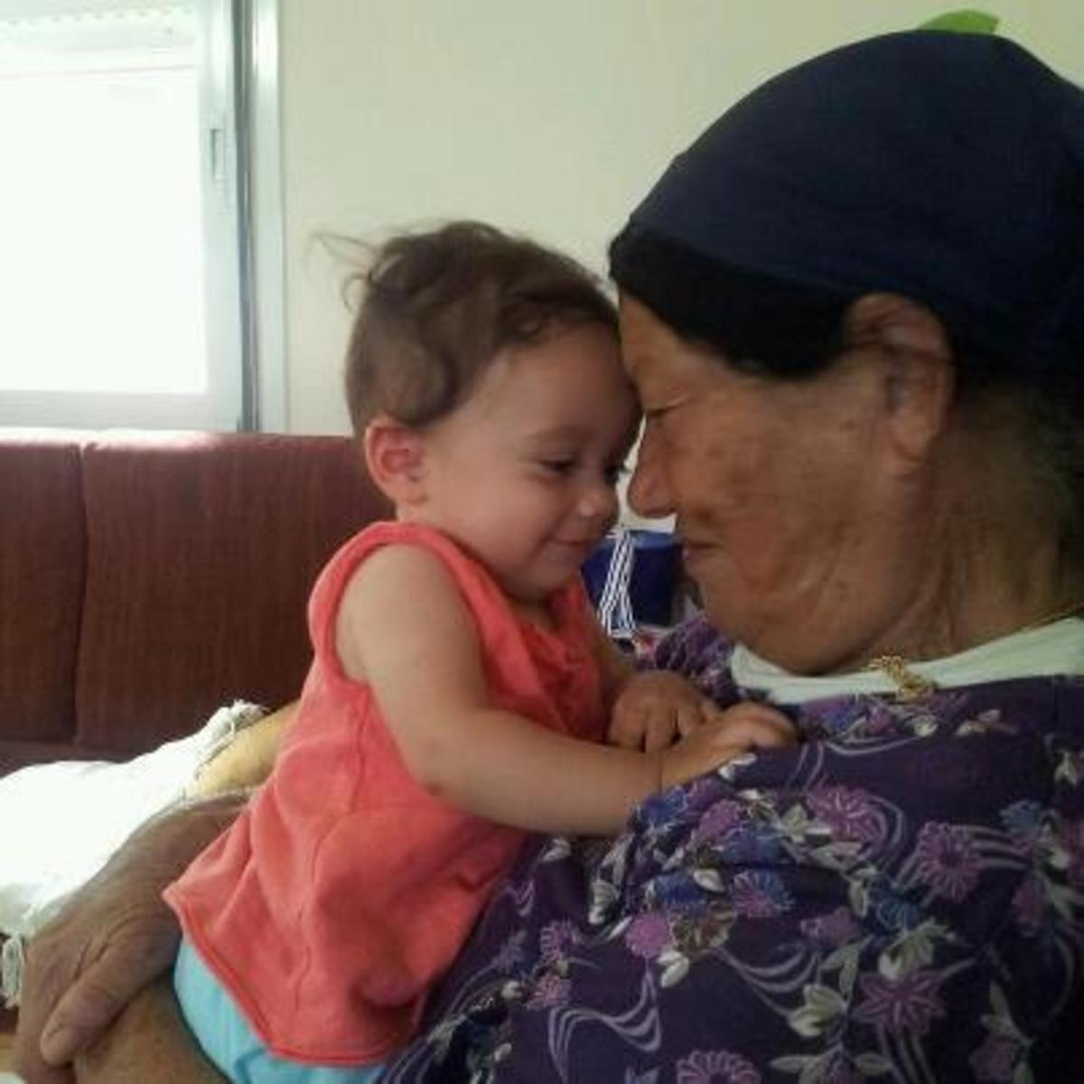 Miriam with her youngest great grand daughter