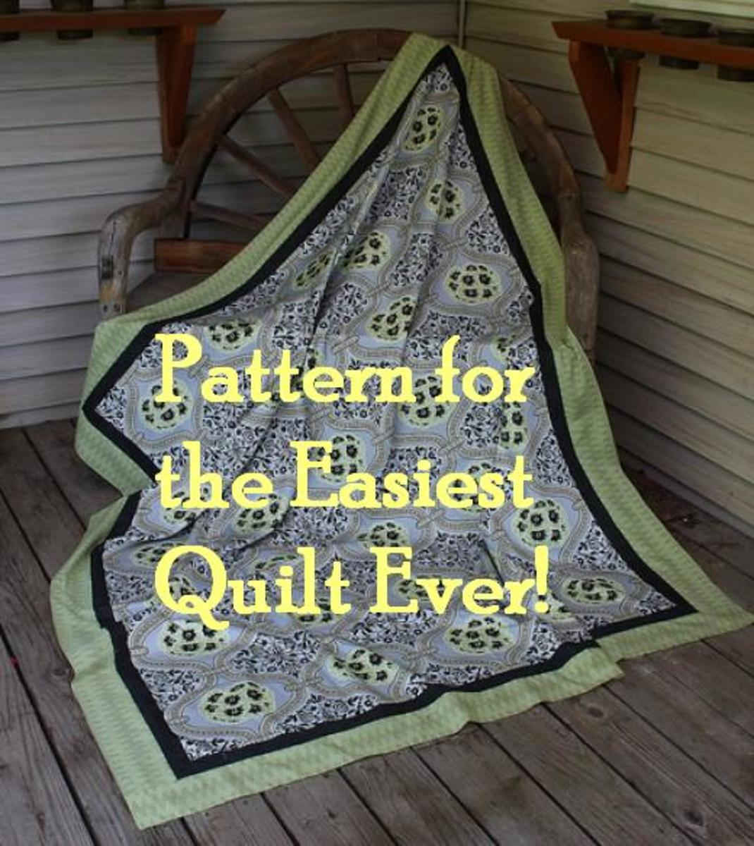 This beautiful Amy Butler fabric makes a great whole cloth quilt. The quilter did add borders to add interest.