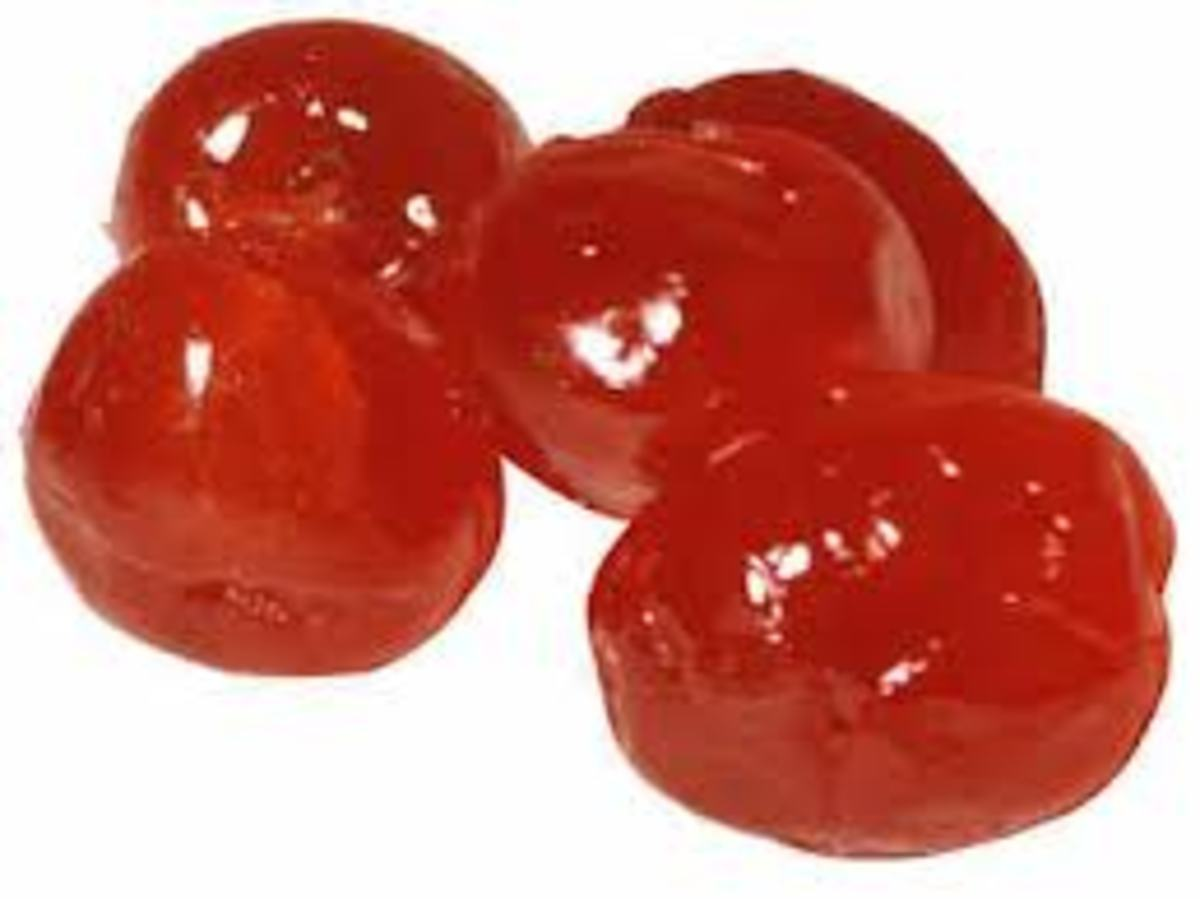 Glacé cherries/ Candied Cherries or Crystallized Cherries