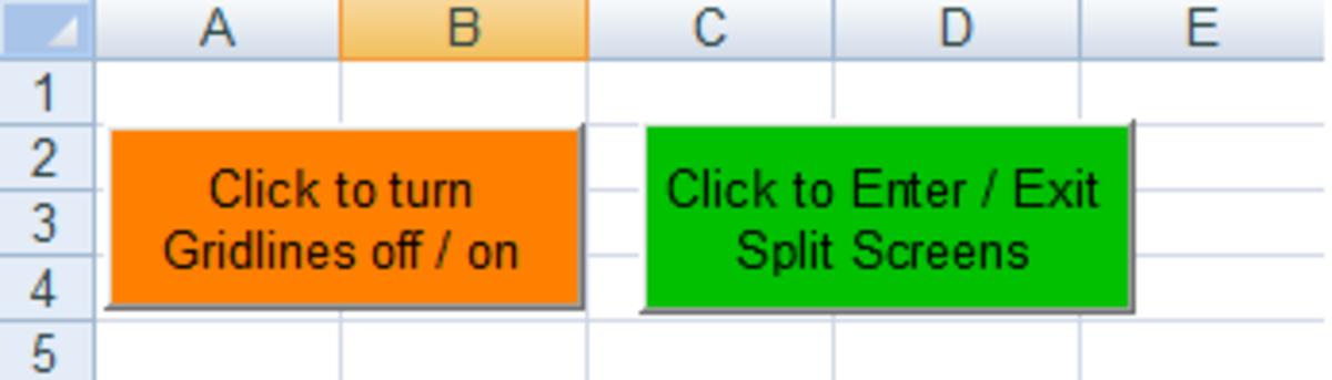 Toggle Buttons created in Excel 2007 and Excel 2010.