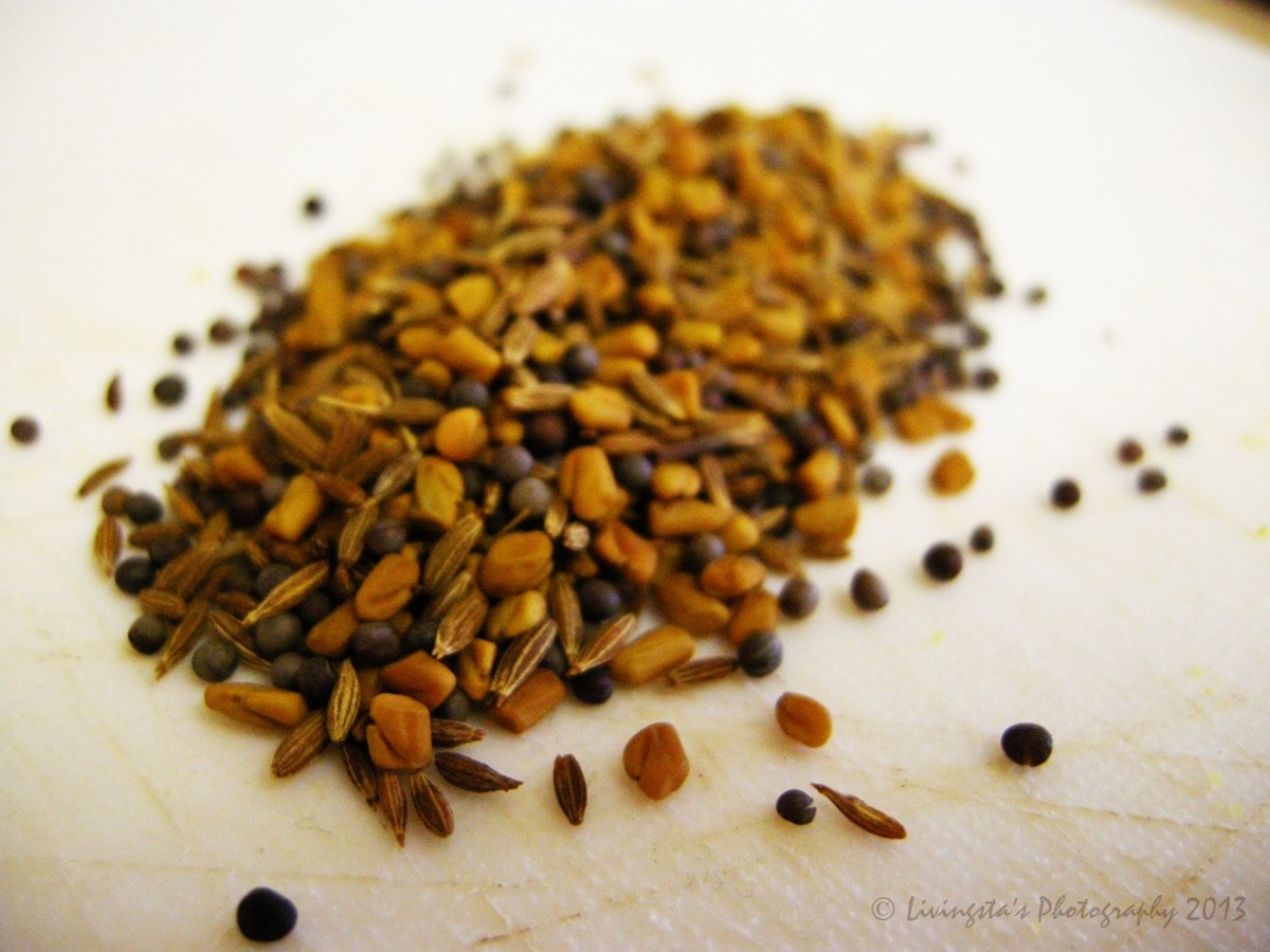 Roasted Fenugreek seeds, Mustard seeds and Cumin seeds