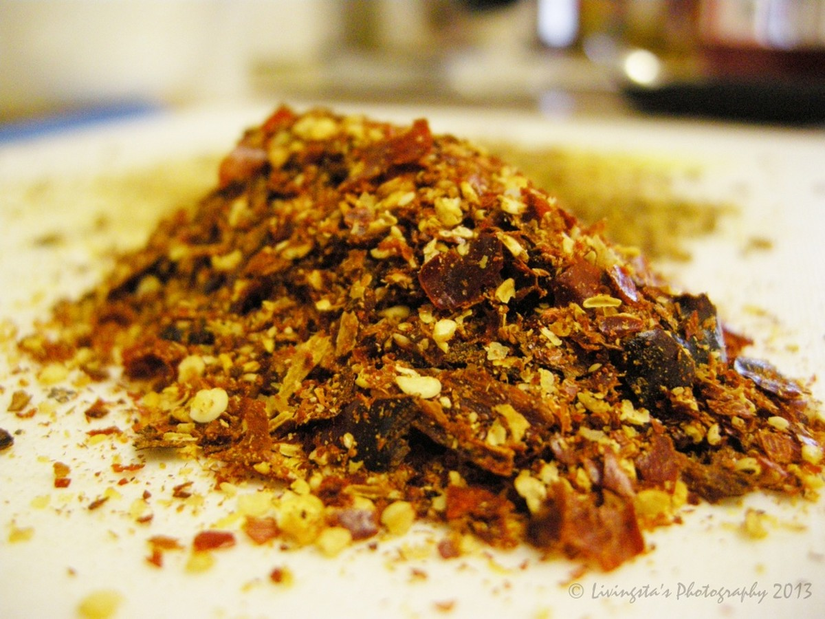 Crushed dry red chilies