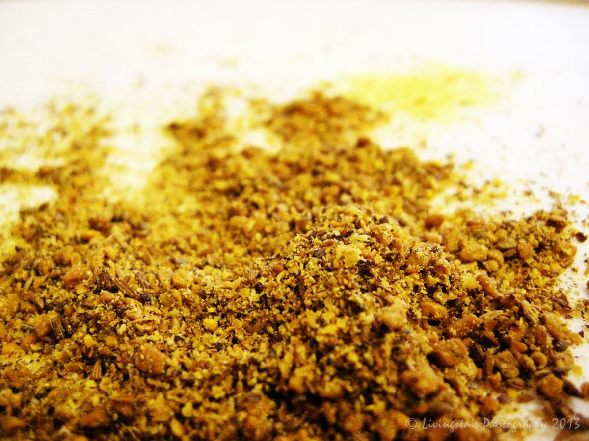 Coarsely powdered mixture of Fenugreek seeds, Mustard seeds and Cumin seeds
