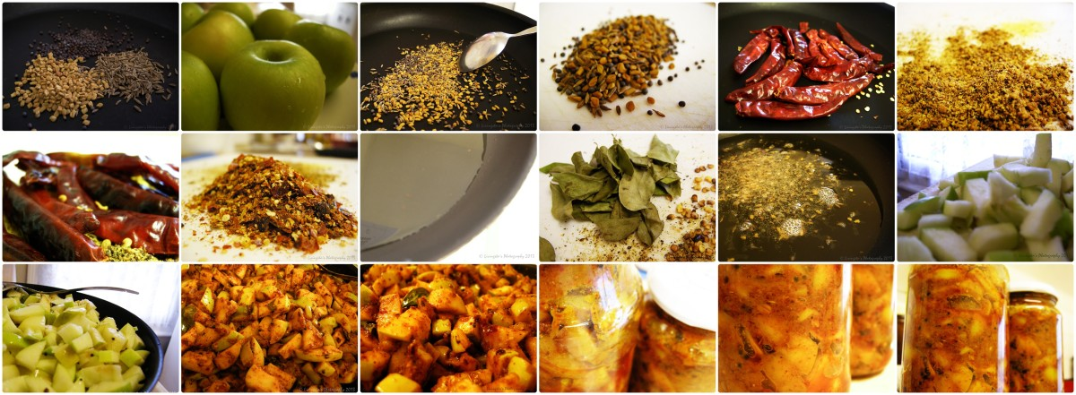 A collage of all the steps involved in preparation of this recipe!