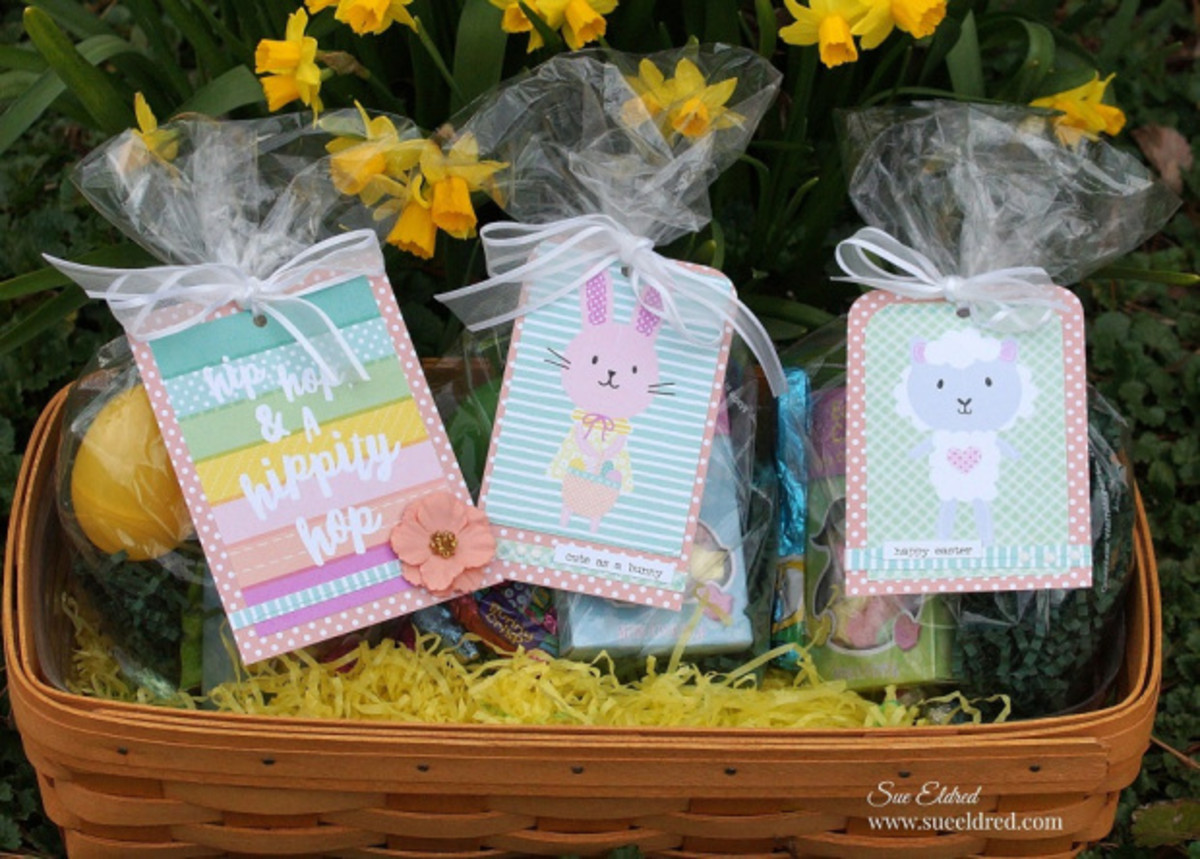 Make holiday and Easter tags with your Xyron Tape Runner